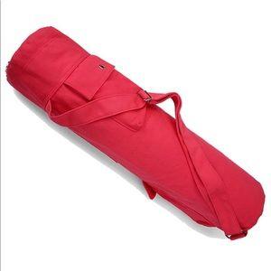 New Yoga / Exercise Mat Bag w Shoulder Strap Coral